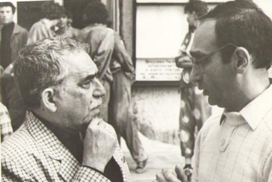 Serhiy Borschevsky. Traductores. Be Cult. Revista Be Cult.Serhiy Borschevsky con el escritor colombiano Gabriel García Márquez.