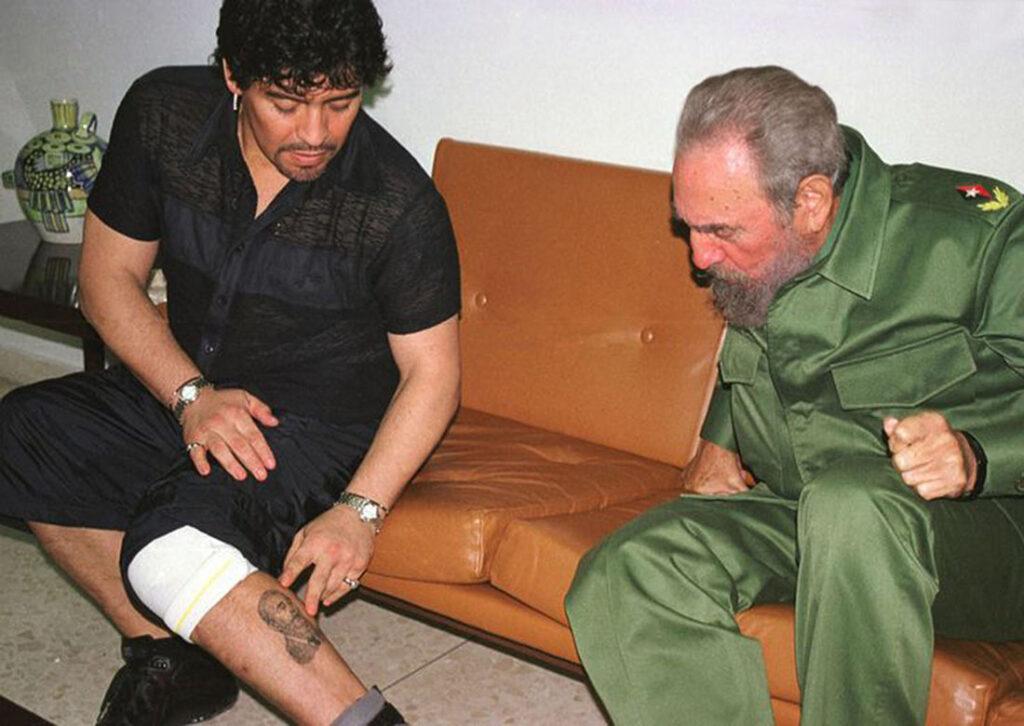 Be Cult - Fidel Castro, Maradona y su tatuaje de Fidel
