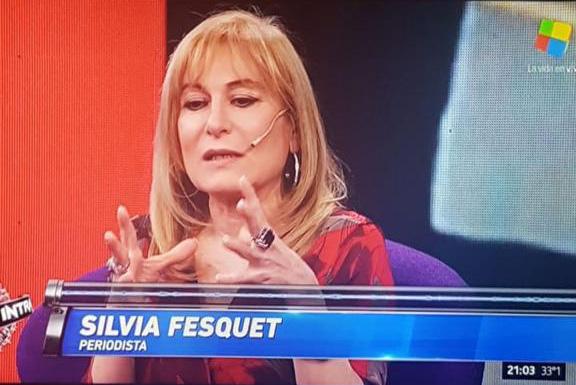 Silvia Fasquet en programa de América TV