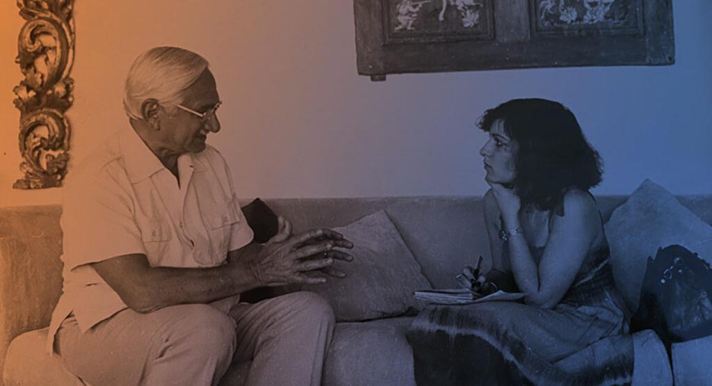Silvia Fasquet realizando una entrevista - Be Cult